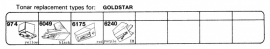 Overige typen Goldstar: Tonar-vervangers