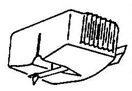 Sony ND45 E / XL45 E transparant paars pick-upnaald = Tonar 765 Diamant Elliptisch