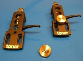 Tonar SME-type DJ zwart headshell = Tonar 4602