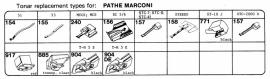 Overige typen Pathe Marconi: Tonar-vervangers