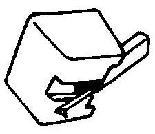Sony ND115 G / VM11 G zwart pick-upnaald = Tonar 693 Diamant Stereo