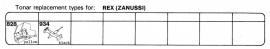 Overige typen Rex / Zanussi: Tonar-vervangers