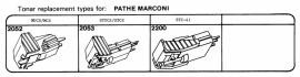 Overige typen elementen Pathe Marconi: Tonar-vervangers