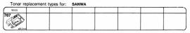 Overige typen Sanwa: Tonar-vervangers