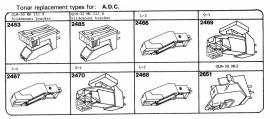 ADC pick-upelementenoverzicht Tonar