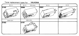 Overige typen elementen Valkona: Tonar-vervangers