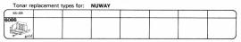 Overige typen Nuway: Tonar-vervangers
