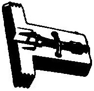 Seeburg Stereo jukebox naald turquoise/grijs  = Tonar 187 Diamant Stereo