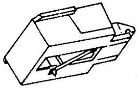 Aiwa AN50 zwart pick-upnaald = Tonar 957 Diamant Stereo