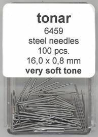Stalen naald very soft tone 16.0 mm / 0.8 mm doosje 100 stuks