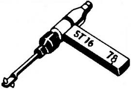 BSR ST16 pick-upnaald = Tonar 442 Saffier Normaal 78-Toeren / Diamant Stereo