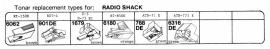 Overige typen Radio Shack: Tonar-vervangers