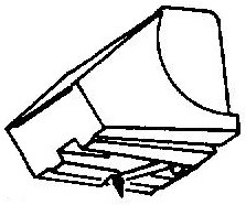 Aiwa AN87-45 zwart pick-upnaald = Tonar 753 Diamant Stereo