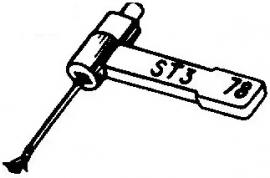 BSR ST3 pick-upnaald = Tonar 50 Saffier Normaal 78-Toeren  / Diamant Stereo