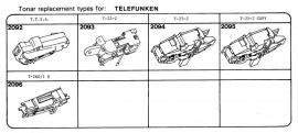 Overige typen elementen Telefunken: Tonar-vervangers