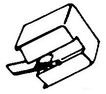 Sony ND126 G / VM22 GA zwart pick-upnaald = Tonar 496 Diamant Stereo