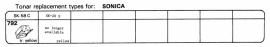 Overige typen Sonica: Tonar-vervangers
