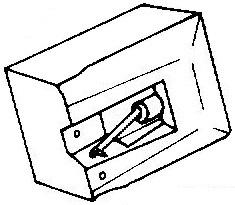 Audio Technica ATN3451 E groen pick-upnaald = Tonar 6127 Diamant Elliptisch