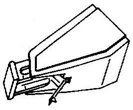 Aiwa AN60 wit pick-upnaald = Tonar 953 Diamant Stereo