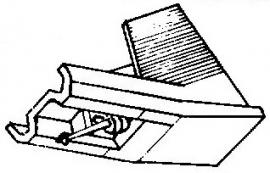 Pioneer PN295 T wit pick-upnaald = Tonar 6167 Diamant Stereo