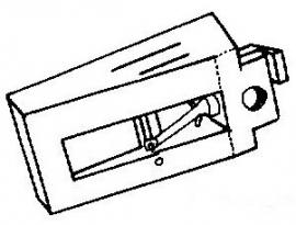 Kenwood N64 zwart pick-upnaald = Tonar 393 Diamant Stereo