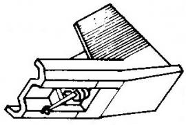 Audio Technica AT-3472 P- ATN-3472 P ivoor pick-upnaald = Tonar 6111 Diamant Stereo