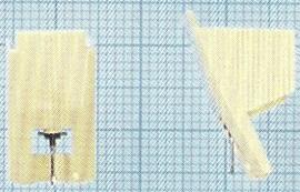 JVC DT-57 ivoor pick-upnaald = Micro Mel 939 Diamant Stereo