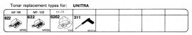 Overige typen Unitra: Tonar-vervangers