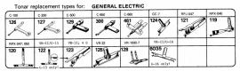 Overige typen General Electric: Tonar-vervangers