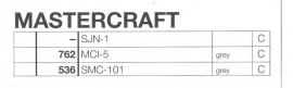 Overige typen Mastercraft: MicroMel-vervangers