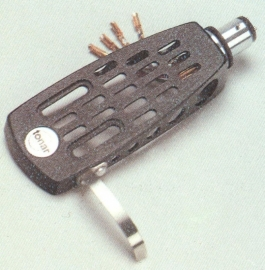 Tonar S-arm SME-type zwart headshell = Tonar 3197