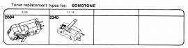 Overige typen elementen Sonotone: Tonar-vervangers