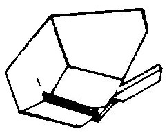 Garrad ATN-936 wit pick-upnaald = Tonar 676 Diamant Stereo