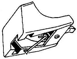 Aiwa AN7 geel pick-upnaald = Tonar 831 Diamant Stereo