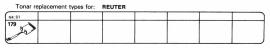 Overige typen Reuter: Tonar-vervangers