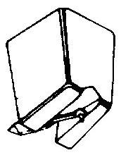 Sonotone V-100 zwart pick-upnaald = Tonar 1093 Diamant Stereo
