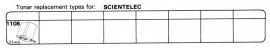 Overige typen Scientelec: Tonar-vervangers