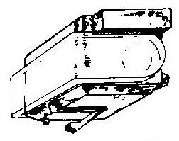 Sony ND25 E / XL 25 XL25 A grijs pick-upnaald = Tonar 854 Diamant Elliptisch