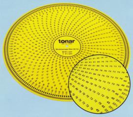 Tonar stroboscoop alle snelheden 12 inch /30,5 cm geel kunststof