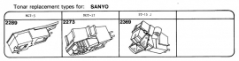 Overige typen elementen Sanyo: Tonar-vervangers