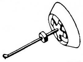 Bang & Olufsen SP1 rood pick-upnaald = Tonar 45 Diamant Elliptisch