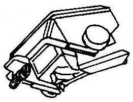 Shure ME97 HE - NE97 HE pick-upnaald = Tonar 6285 Diamant Hyper Elliptisch
