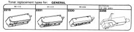 Overige typen elementen General: Tonar-vervangers