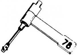 BSR ST12 pick-upnaald = Tonar 424 Saffier Normaal 78-Toeren / Diamant Stereo