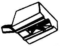 Tenorel T2001 wit pick-upnaald = Tonar 622 Diamant Stereo / WHI