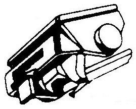 Shure VN5 MR V15 Type V MR zilver/zwart pick-upnaald = Tonar 1448