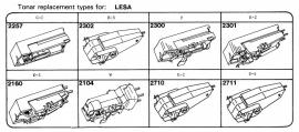 Overige typen elementen Lesa: Tonar-vervangers