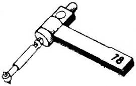 BSR ST8 pick-upnaald = Tonar 286 Saffier Normaal 78-Toeren / Diamant Stereo