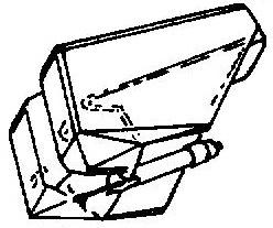 Technics EPS24 CS - EPC24 transparant oranje pick-upnaald = Tonar 940 Diamant Stereo