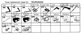 Overige typen Telefunken: Tonar-vervangers
